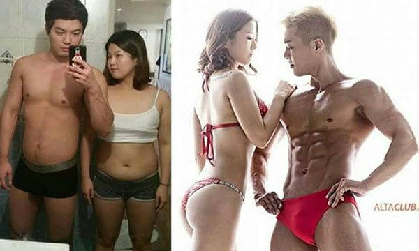 คู่รักสุดฟิต จูงมือกันลดน้ำหนัก สร้างหุ่นสวย สุดตะลึงภายใน 4 เดือน