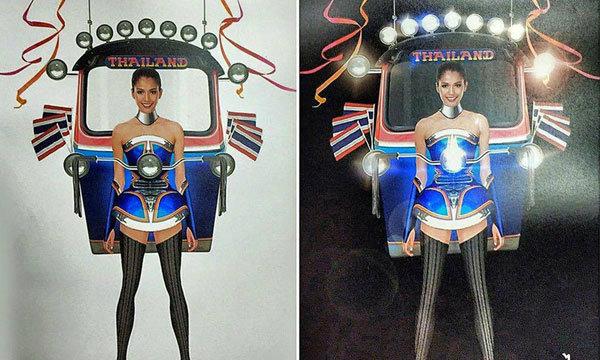 ตุ๊ก ตุ๊ก ไทยแลนด์! ชุดประจำชาติ  Miss Universe 2015