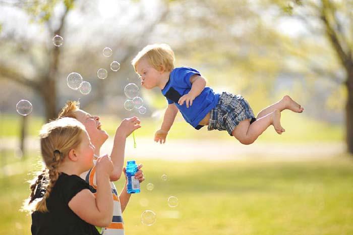 ภาพสวย พ่อสุดเจ๋ง สานฝันให้ลูกน้อย บินได้!