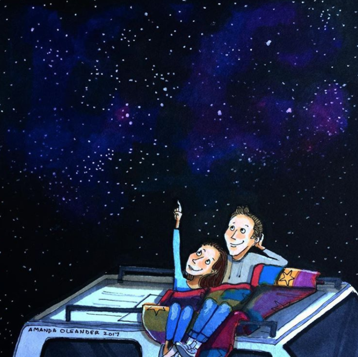 ภาพวาดโมเมนต์แห่งความรัก โดย Amanda Oleander